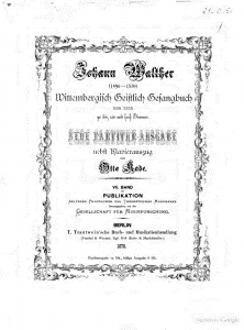 図1:Johann Walter, Geystliches Gesangk Büchleyn, Titelpage, Wittenberg, 1524