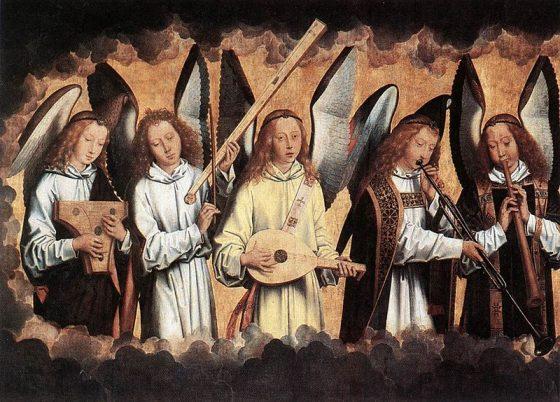 図1:メムリンク「奏楽の天使」左パネル