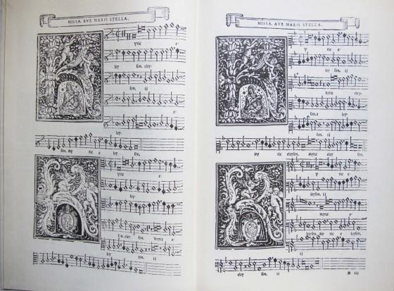 譜例1:ジョヴァンニ・アニムッチャ作曲《ミサ・アヴェ・マリス・ステッラ》冒頭