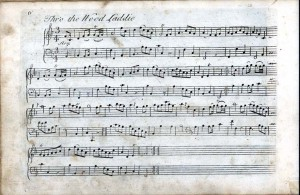 譜例2:《Thro' the Wood, Laddie(森を抜けながら、若者よ)》A Collection of Scots Tunes(Edinburgh, 1742)より