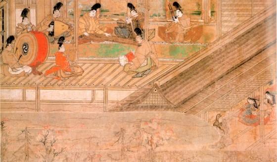 図2 住吉物語絵巻 断簡(東京国立博物館蔵 鎌倉時代)